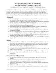 mba student resume for internship objectives for resumes students resume good objective high