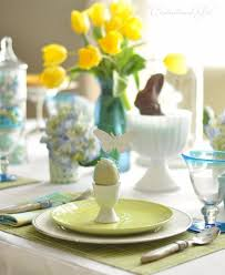 Table Settings Ideas Creative Easter Table Setting Ideas In Blue And White To Inspire