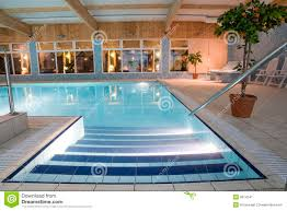 luxurious indoor swimming pool stock image image 8014541