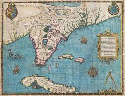 Map Of St Augustine Florida by File 1591 De Bry And Le Moyne Map Of Florida And Cuba