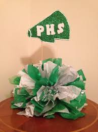 Football Banquet Centerpiece Ideas by Cheer Leading Awards Banquet Center Piece Pom Pom Party Ideas