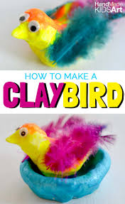 how to make clay birds the easy way handmade kids art