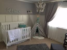 Nursery Chandelier Viv U0027s Gray And White Nursery Project Nursery Nursery And