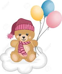 teddy bears in balloons winter teddy flying balloons royalty free cliparts vectors