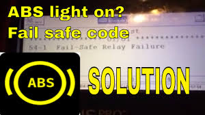 54 1 abs fail safe relay code troubleshooting youtube