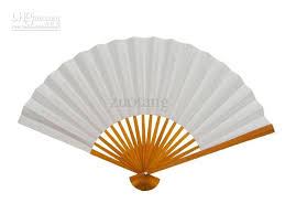 white paper fans blank white paper folding fans students child diy