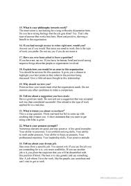 what questions do you get asked in a job interview job interview questions worksheet free esl printable worksheets