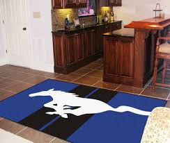 Area Rugs Okc by Ford Mustang Horse 5 X 8 U0027 Decorative Plush Area Rug Floor Mat Blue