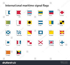 Flag Signals Meaning International Maritime Signal Flags Stock Vector 169350386