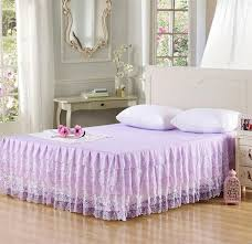 Shabby Chic Bed Skirts by Wholesale Light Lavender Layered Ruffles Lace Bed Skirt Bedspread