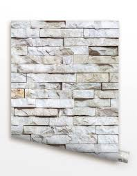 removable peel and stick fabric wallpaper seamless brick wall