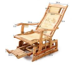 modern rocking chair bamboo furniture outdoor indoor rocker