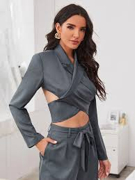 how to cut out the back of a cabinet wrap cut out button back crop blazer