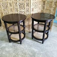 side table side table with shelf dos custom wood nightstand