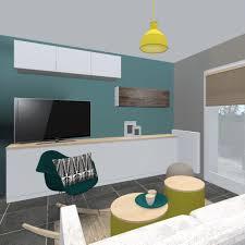 cuisine mur bleu confortable meuble bleu canard cuisine blanche mur bleu awesome