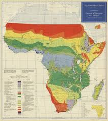 The Map Of Africa 1958 Vegetation Map Of Africa South Of The Tropic Of Cancer