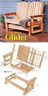Diy Wooden Outdoor Chairs by Glider Bench Plans Outdoor Furniture Plans U0026 Projects