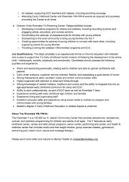 Sample Resume For Early Childhood Assistant by Early Childhood Specialist Cover Letter