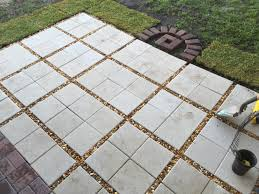 How To Lay Patio Pavers On Dirt by Almost Done Paver Patio Diy 12x12 Pavers With Gravel Between
