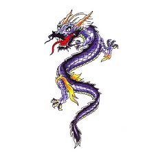 latest colorful traditional chinese dragon tattoo design