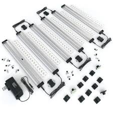 led under cabinet lighting warm white eshine 6 panels 12 inch led under cabinet lighting with ir sensor