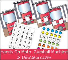 gumball themed hands on math u0026 ways to add bubbles 3 dinosaurs