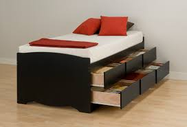 Black Full Size Bed Frame Bedding Queen Frame With Storage Full Drawers â U20ac U201d Modern Twin