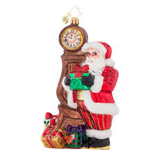 Radko Halloween Ornaments Radko 1017877 In Time For Christmas Santa U0026 Grandfather Clock