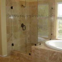 bathroom design and decoration using corner bathroom shower stall