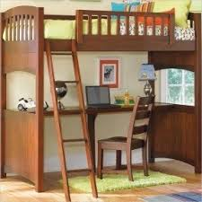 loft twin bed with desk foter