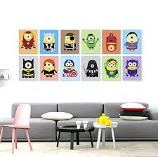 minions superheros avengers batman funny pop anime movie a4 art minions superheros avengers batman funny pop anime movie a4 art print poster kawaii wall picture canvas