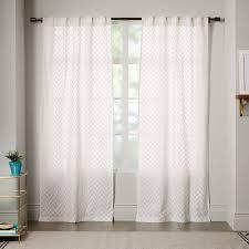 sheer chevron curtain white west elm inside white sheer curtains renovation jpg