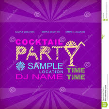 cocktail party stock vector image 52810696