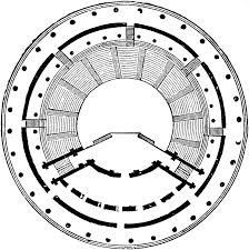 ground plan of the theatre of herodes atticus clipart etc