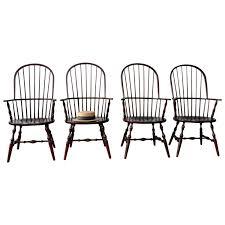 Black Windsor Chairs Habersham Sack Back Windsor Chairs At 1stdibs