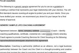 coaching contract templates coaching confidentiality agreement
