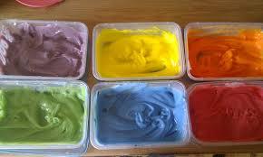 edible corn flour paint need water corn flour and food