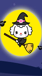 free cute halloween background cartoon halloween wallpaper