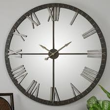 uttermost amelie 60 in large wall clock hayneedle