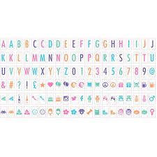 light box letters 120 extra pastel coloured letters symbols