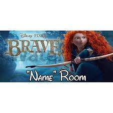 disney brave personalised bedroom door sign plaque text