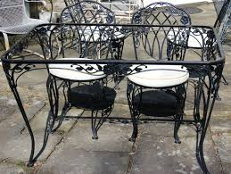 Mesh Wrought Iron Patio Furniture by Lyon Shaw Windflower Lattice Wrought Iron Outdoor Patio Table U0026 4