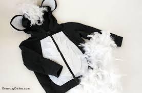 Baby Skunk Costume Halloween Diy Skunk Hoodie Costume Craft Halloween