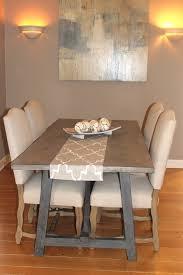 butcher block trestle dining table end grain chopping block w