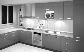 and grey kitchen ideas cabinet stunning grey gloss kitchen ideas with black appliances