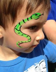my face painting this summer snake face painting ideas