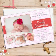 Christening Card Invitations 10 Personalised Girls Christening Baptism Photo Invitations N98