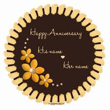 Wedding Wishes Editing Write Name On Flower Wedding Anniversary Cake Profile P