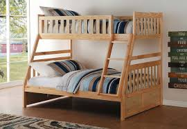 bartly twin over full bunk bed homelegance furniture cart