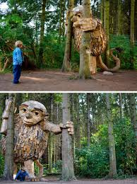 Map Of Copenhagen Six Large Wood Giants Are Now Hiding Out In A Forest Near